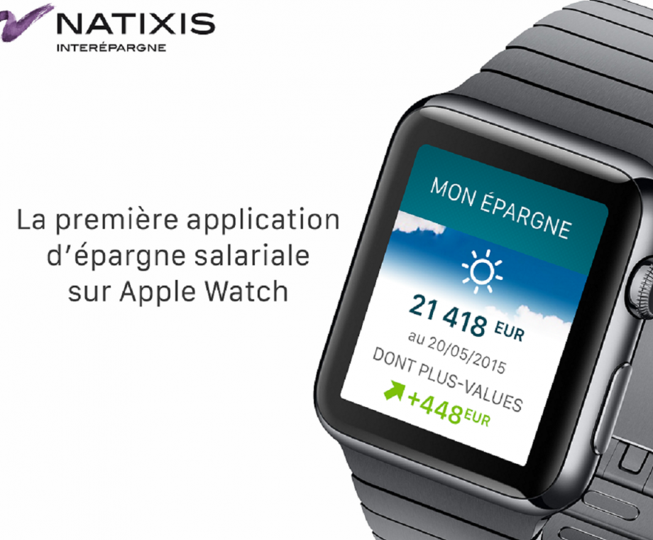 Natixis Interépargne sur Apple Watch : une nouvelle application signée Niji